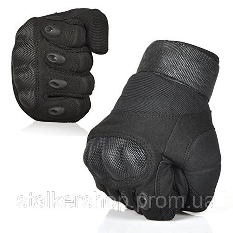 Перчатки тактические карбон, черные
