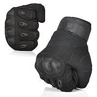 Перчатки тактические карбон, черные, фото 1