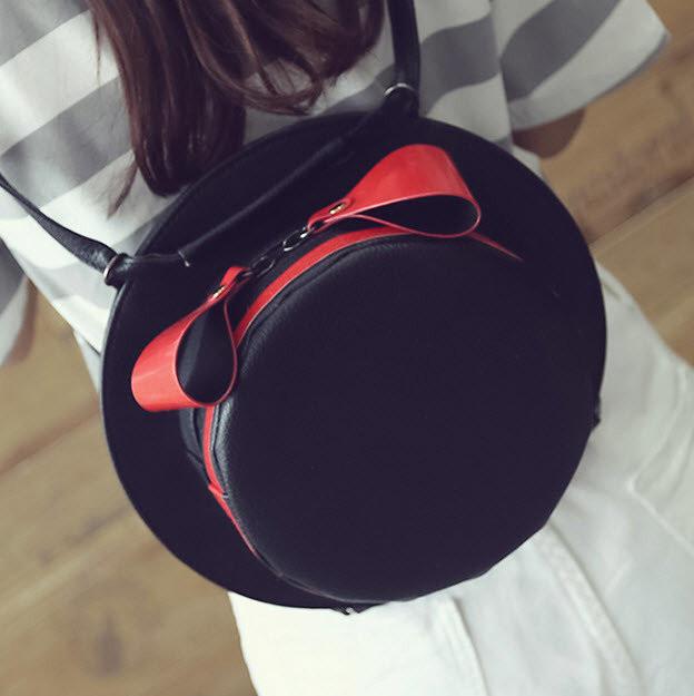 Рюкзак сумка круглая шляпа.