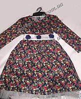 Красивое детское платье с цветочным принтом 1211