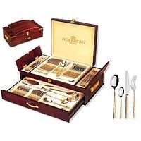 Набор столовых приборов в чемодане на 12 персон72 пр. Hoffburg Graf (HB-7283GS)