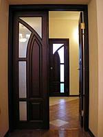 Виготовлення дверей, сучасні дерев'яні двері П6