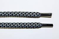 Шнурки круглые 6мм с наполнителем черный+св.серый, фото 1