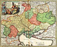 Старинная карта Украины 1720г — печать на заказ