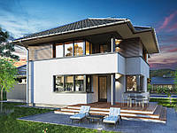 Проект двухэтажного дома Hd-15