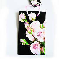 Подарочный пакет Малый 11х18х5  Букет роз