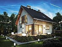 Проект мансардного дома  Hd-34