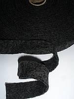 Тесьма полушерстяная декоративная, плотная 2.5см ширина, фото 1