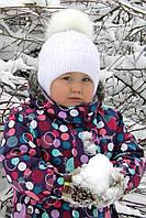 Снежинка,п/шерсть, флис, песец. Зима. р. 46 розовый, пломбир, р.48 и 52 (2-7лет) св.малина, пломбир, розовый
