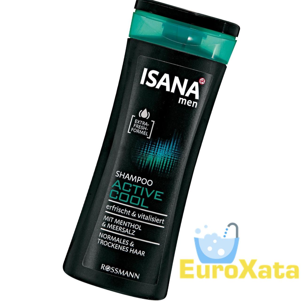 Шампунь ISANA Active Cool с ментолом и морской солью для норм/сухих волос (300мл) Германия