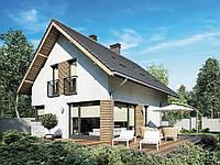 Проект мансардного дома  Hd17