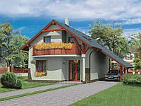 Проект мансардного дома Hd18