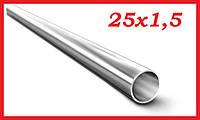 Труба тонкостенная круглая электросварная прямошовная 25х1,5 мм