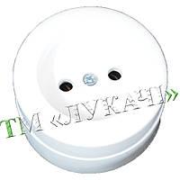Розетка ORBITA R2016 кругла біла зовнішня