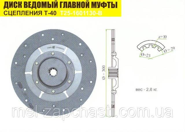 Диск ведомый Т-40 Т25-1601130-В