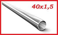 Труба тонкостенная круглая электросварная прямошовная 40х1,5 мм