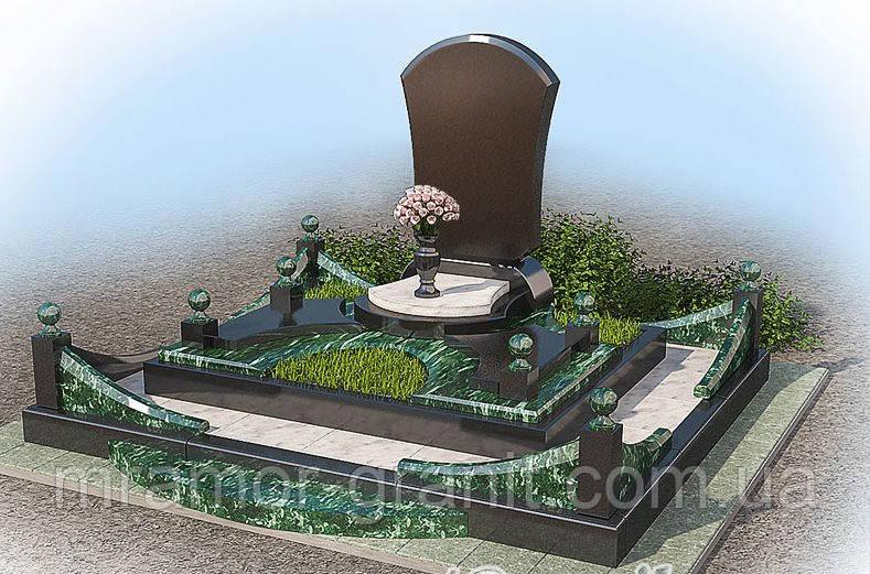 Памятник из гранита габбро П - С 19