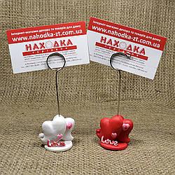 """Декоративный держатель для фото, визиток, открыток """"Сердечки LOVE"""" DS-0041"""