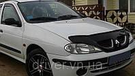 Дефлектор капота (мухобойка) Renault Megan I 1999-2002, на крепежах