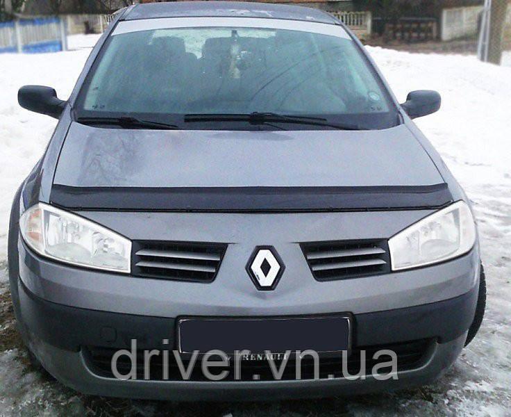 Дефлектор капота (мухобойка) Renault Megan II 2002-2008