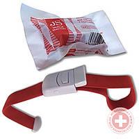Жгут венозный трикотажный для забора крови, с пластиковым карабином JS