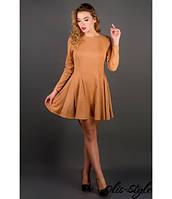 Молодежное бежевое платье Нолли  Olis-Style 44-52 размеры