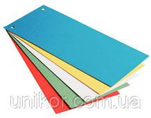Разделительные полосы картонные, 105 х 240 мм., (100 шт.) ассорти. ECONOMIX