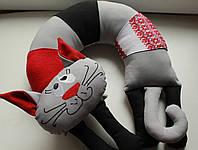 """Подушка под шею"""" Серый кот"""""""