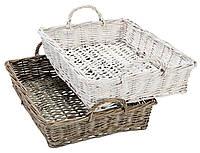 Ящик плетенный с ручкой из лозы в ассортименте 29Х40 см