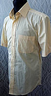 Рубашка M&S  желтая с коротким рукавом Размер 15 Ворот 38