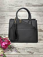 Женская сумка с кошельком черная классическая