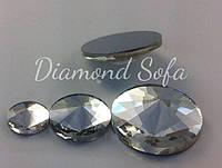 Камень клеевой , стекло , круглый , острый вверх 16 мм