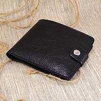Кожаное портмоне П1-01 (черный глянцевый)