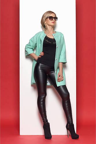 6c009464c4a2 Женское стильное пальто в стиле «Шанель» мятного цвета  продажа ...