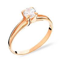 Золотое кольцо с цирконом сваровски