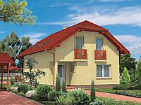 Проект мансардного дома Hd-20