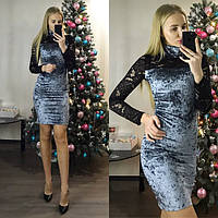Гипюровое платье с кружевом 8814