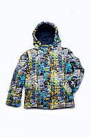 Куртка-жилет (трансформер) для мальчика утепленная (pixel), 03-00656-2
