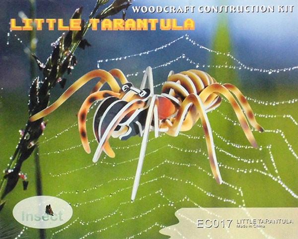 Цветная сборная деревянная 3D модель, 2 пластины - тарантул