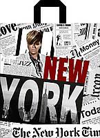 """Пакет  с петлевой ручкой """"Нью - Йорк"""" 40х43см."""