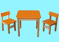 Эко набор Стол деревянный и 2 стульчика Финекс
