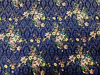 Костюмка Жаккард Иллюзия (на т. синем) (арт. 06455)