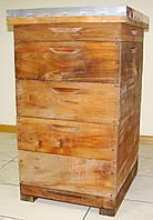 Улей на 10 рамок Дадан  из липы( проваренный в растительном масле)с фальцами