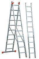 Оренда Лестница алюминиева трехсекционна 3х10 ступеней, фото 1