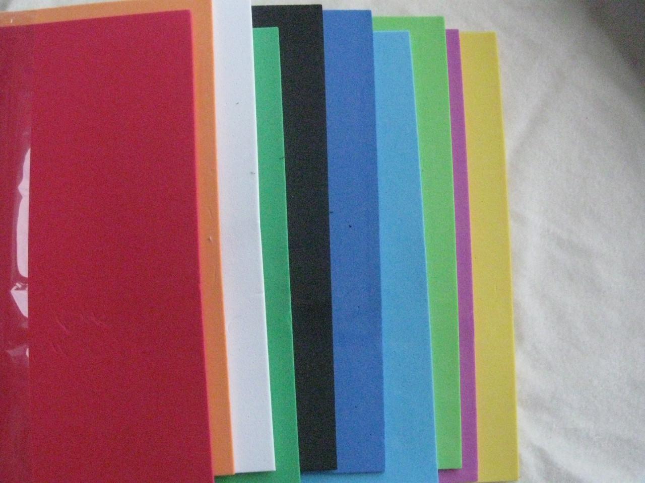 Флексика, фоамиран, бомик А4, набор микс 10 листов,толщина 2мм