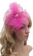 Шляпка сетка розовая