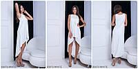 Легкое летнее платье с асимметричной юбкой WHITE
