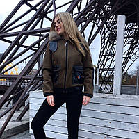 Женская куртка короткая на меху