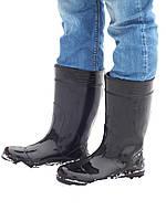 Сапоги резиновые мужские Verona с утеплителем [силиконовые черные]