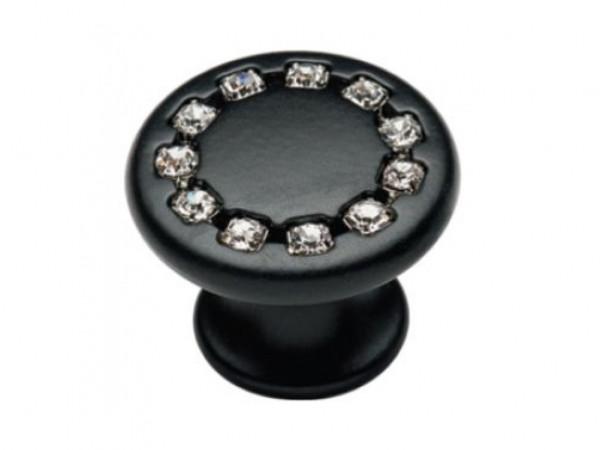 Ручка мебельная Ozkardesler MONO DUGME 6069-012 Матовый Черный с камнями